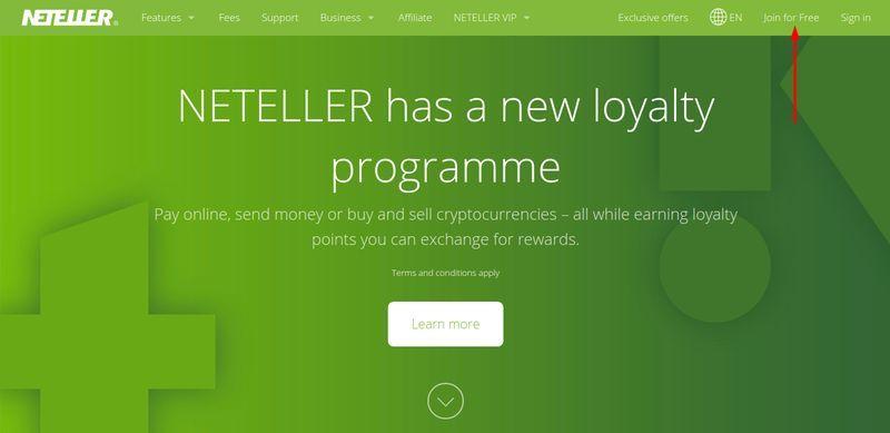 Neteller - registration guide.